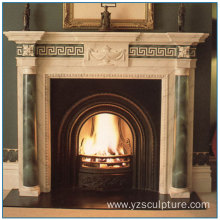 Green Marble Fireplace Mantel For Decoration